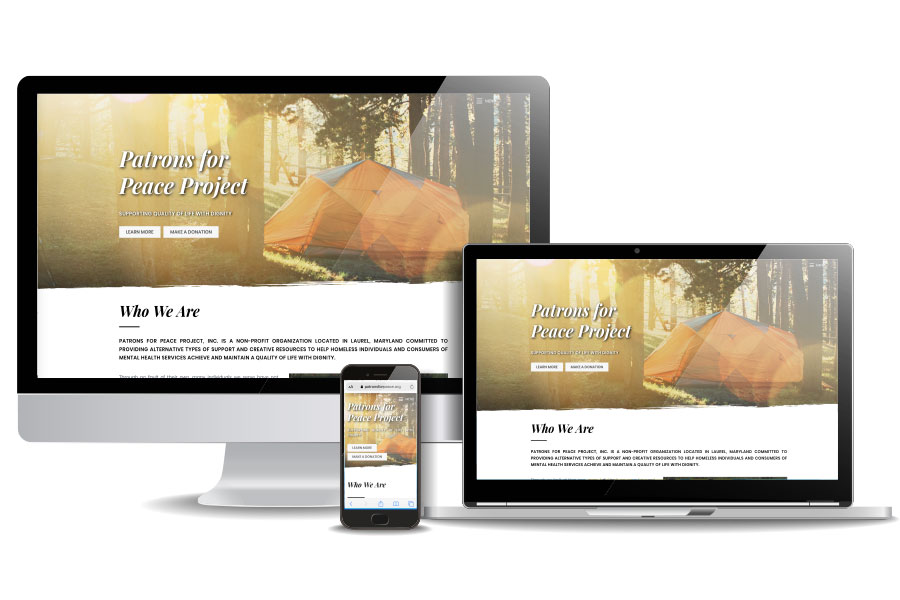 Patrons for Peace (Non Profit) | Responsive Web Design